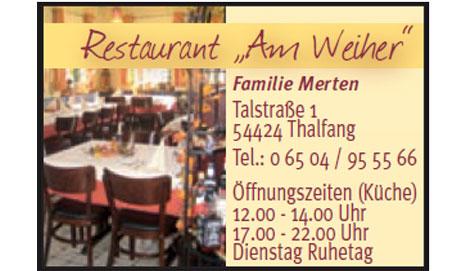 Logo Restaurant 'Am Weiher'