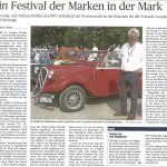 Bericht anläßlich unseres Young- und Oldtimertreffens im Trierischen Volksfreund Ausgabe 'Hunsrück'